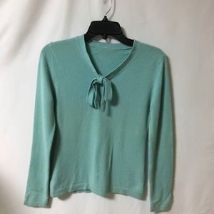Women's 100% cashmere sweater Sz  small color aqua